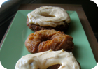 pumpkin donuts with pumpkin cream cheese frosting