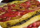 rhubarb tart with orange glaze