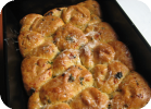 cheesy, savory monkey bread