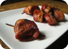 bacon wrapped strawberries (or, berries in a blanket)