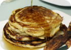 bacon banana buttermilk pancakes
